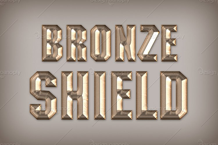 Bronze Shield Photoshop Style