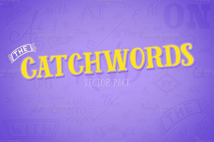 Catchwords Vector Pack Volume 1