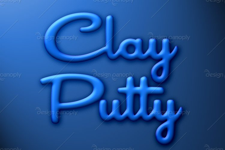 Clay Putty Photoshop Style