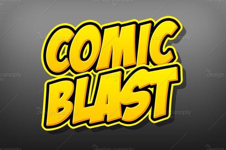 Comic Blast Photoshop Style 2