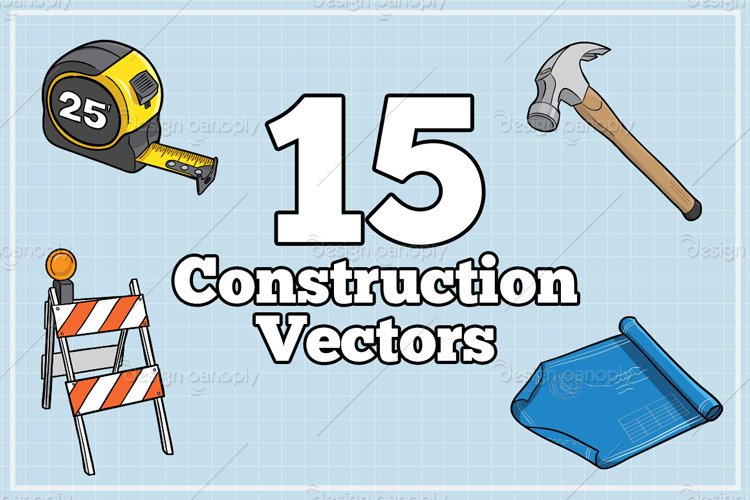 Construction Themed Illustration Pack 1