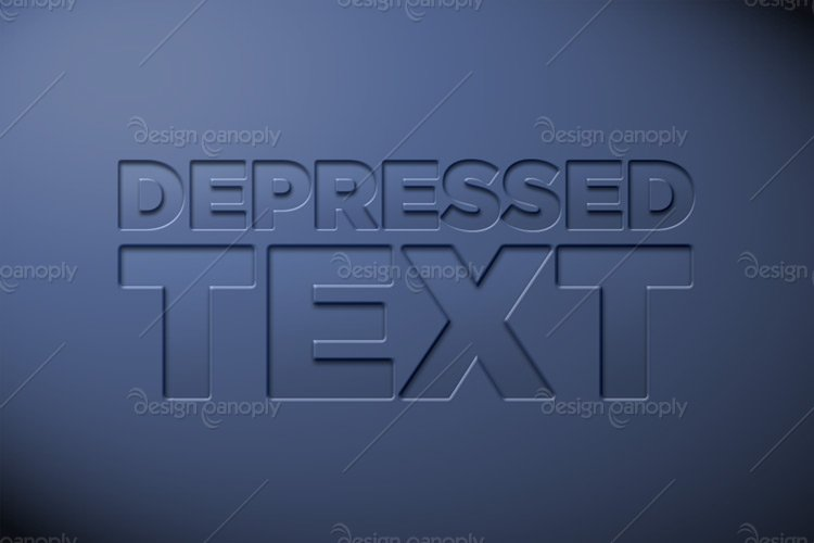 Depressed Text Photoshop Style