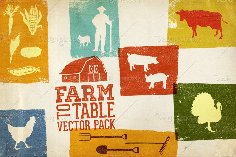 Farm to Table Vector Pack Volume 1