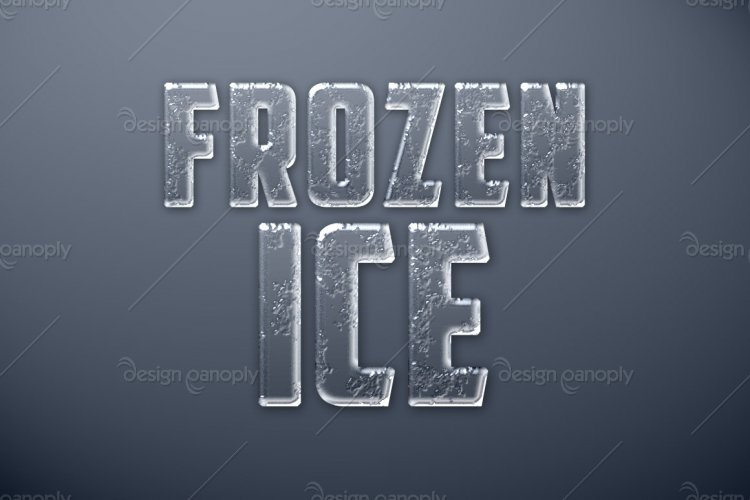 Frozen Ice Photoshop Style