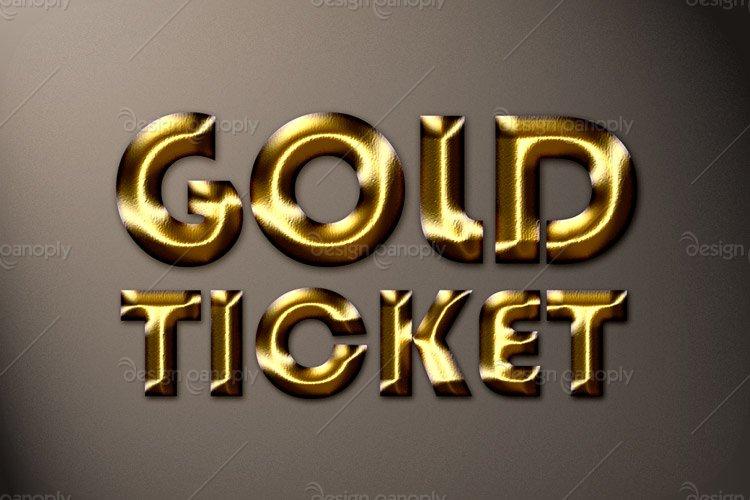 Golden Ticket Photoshop Style