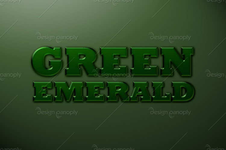 Green Emerald Photoshop Style