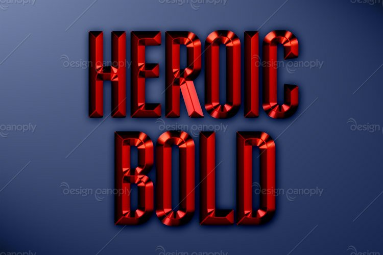Heroic Bold Photoshop Style