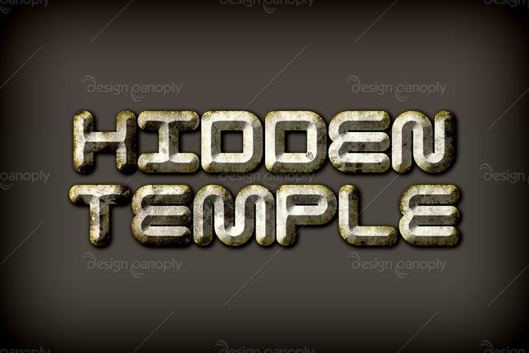 Hidden Temple Photoshop Style