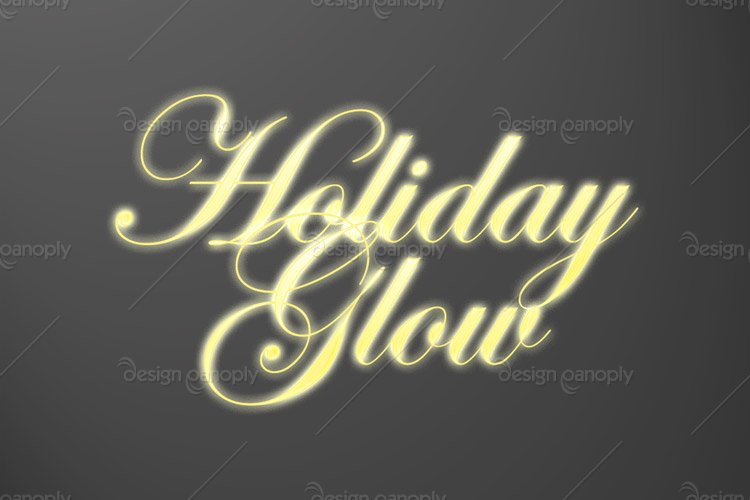 Holiday Glow Photoshop Style