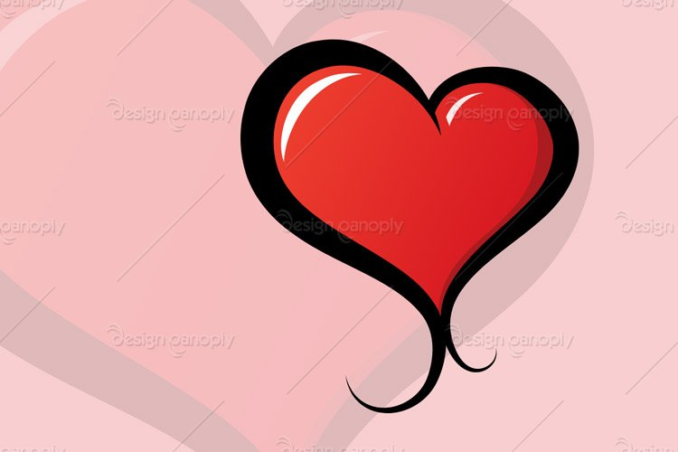 Vector Illustrated Heart