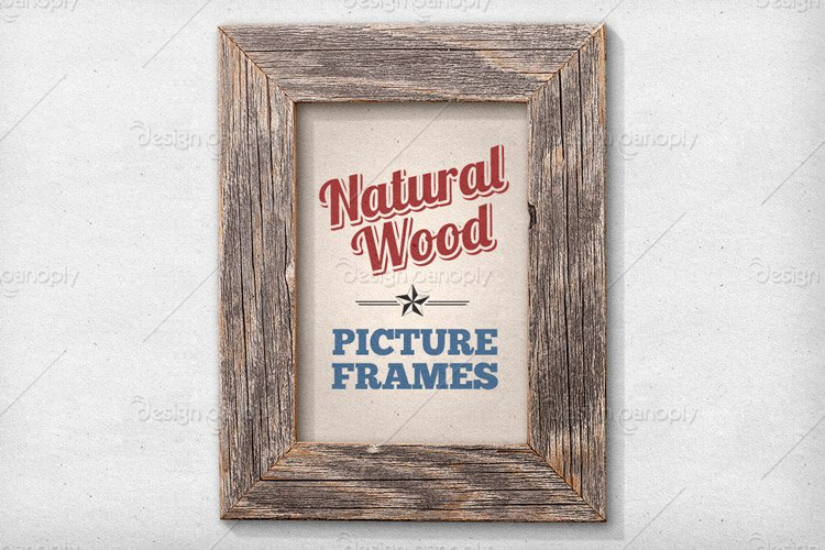 isolated natural wood picture frames 1 - Wood Poster Frames