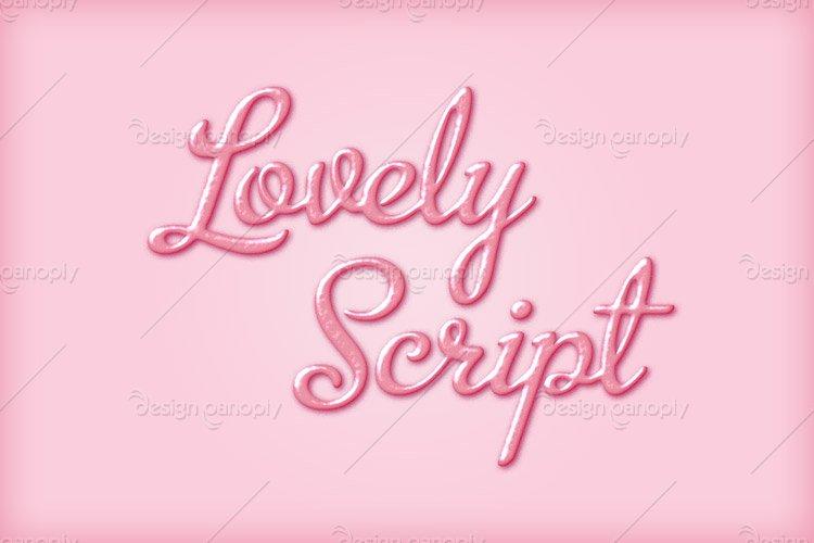 Lovely Script Photoshop Style