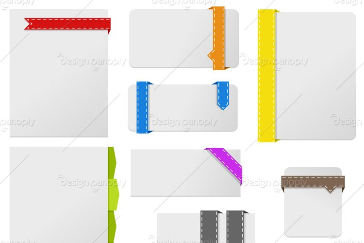 Minimal Ribbons and Boxes Vector Pack 1