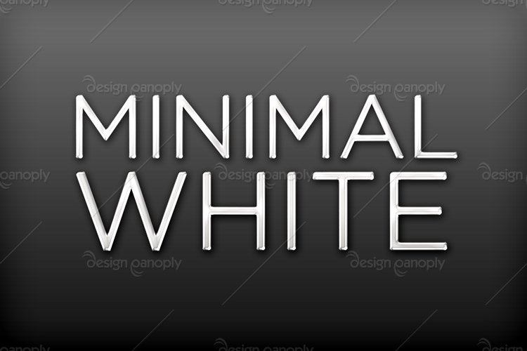 Minimal White Photoshop Style