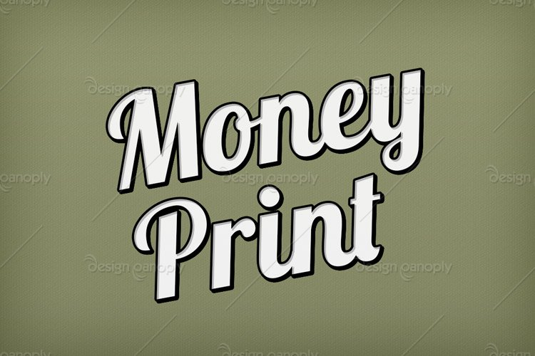Money Print Photoshop Style
