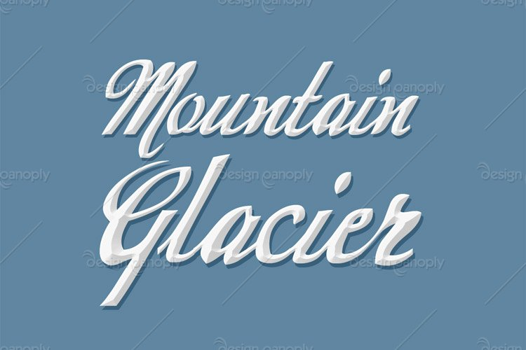 Mountain Glacier Photoshop Style