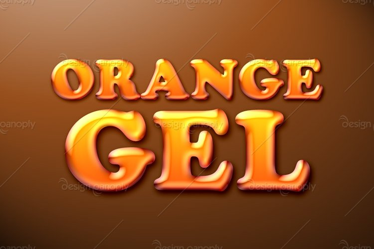 Orange Gel Photoshop Style