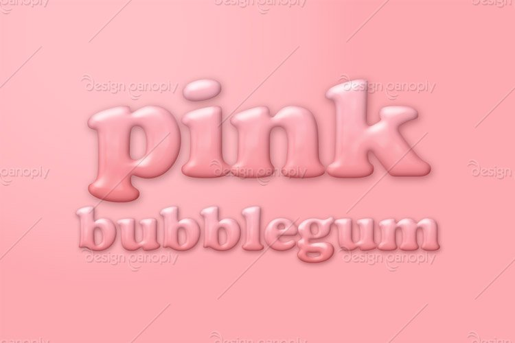 Pink Bubblegum Photoshop Style