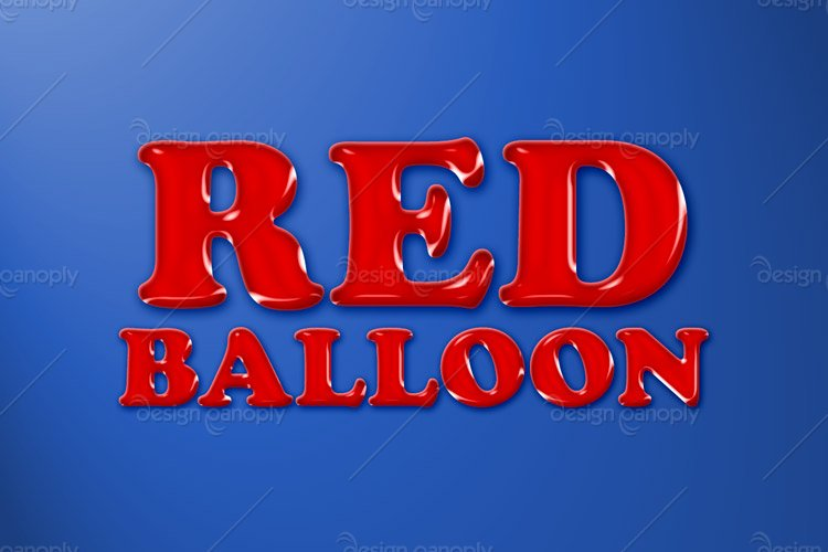 Red Balloon Photoshop Style
