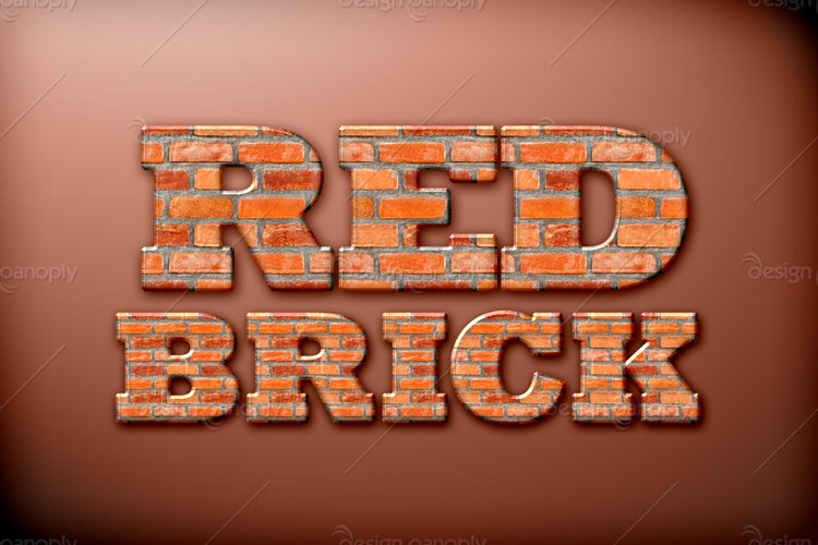Red Brick Photoshop Style