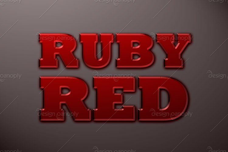 Ruby Red Photoshop Style