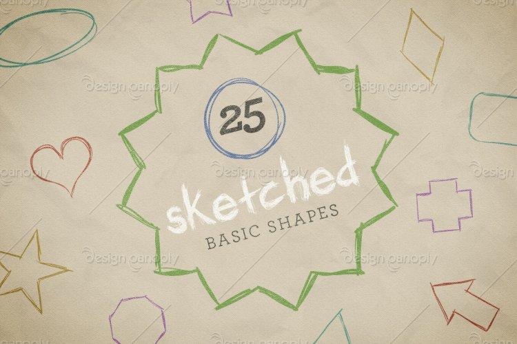 Sketched Basic Shapes Vector Pack Volume 1