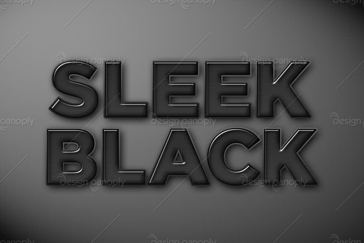 Sleek Black Photoshop Style