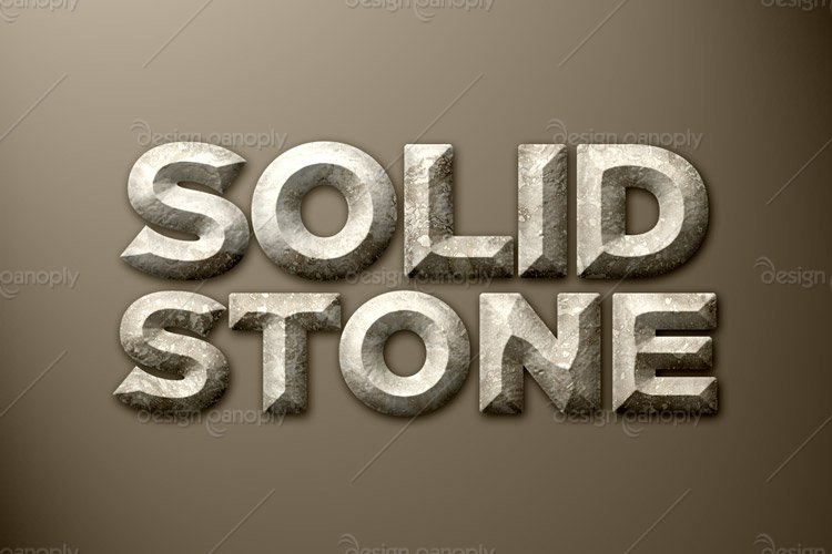 Solid Stone Photoshop Style
