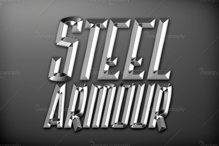Steel Armour Photoshop Style