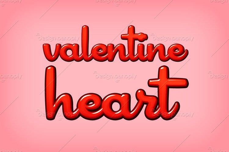 Valentine Heart Photoshop Style