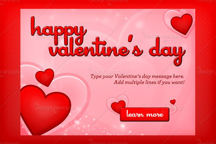 Valentineu0027s Day Hearts Template