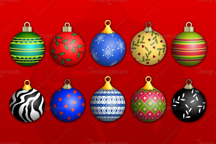 Christmas Ornaments Vector Pack 1 Design Panoply
