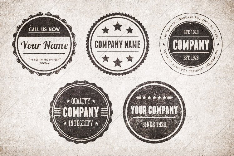 Vintage Circular Badges Vector Pack 1 Design Panoply