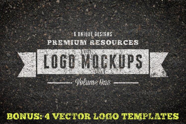 Vintage Logo Mockups Volume 1