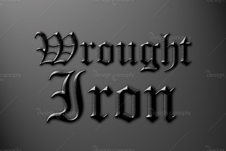 Wrought Iron Photoshop Style