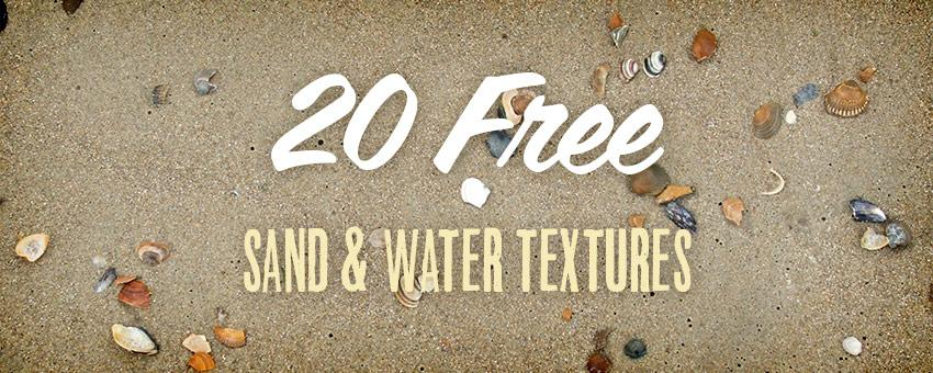 20 Free Sand and Water Textures for the Summer