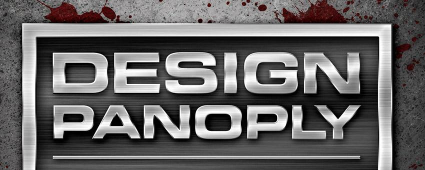 Design A Sharp Brushed Metal Nameplate Background