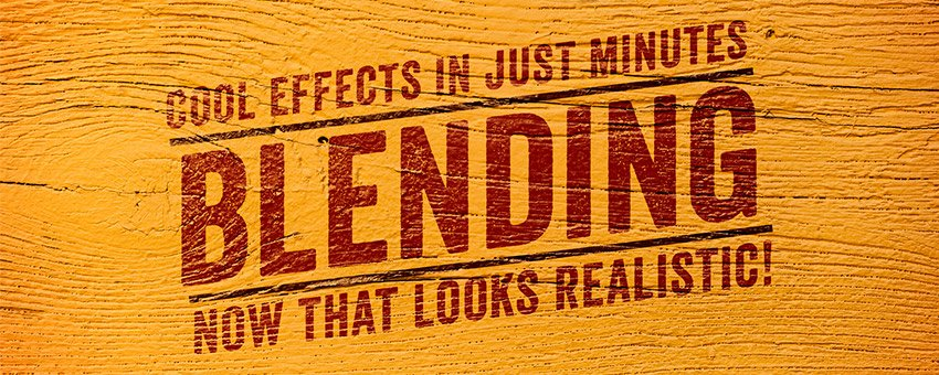 Realistically Blend Typography with a Background in Photoshop