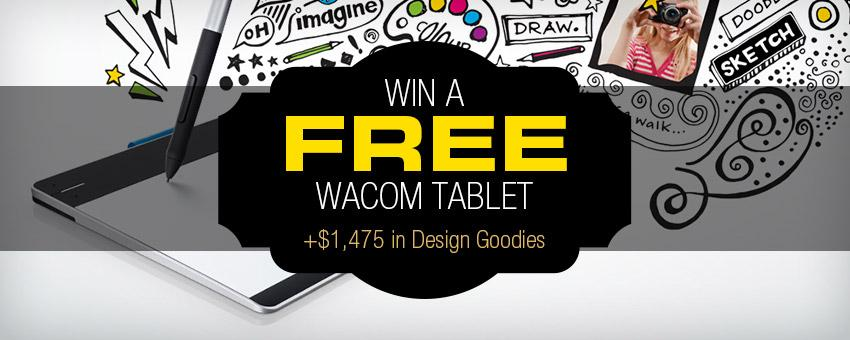 Win a FREE Wacom Graphics Tablet + $1,475 in Design Goodies