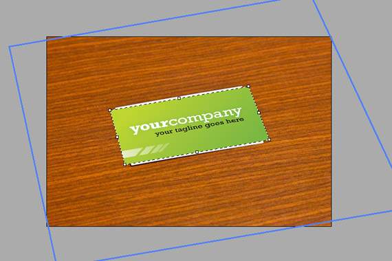 Create A Business Card Mockup In Photoshop Using The Vanishing Point Filter