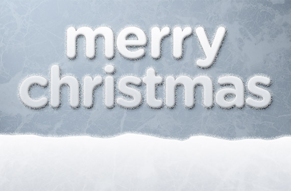 Snow Covered Candy Cane Text Effect