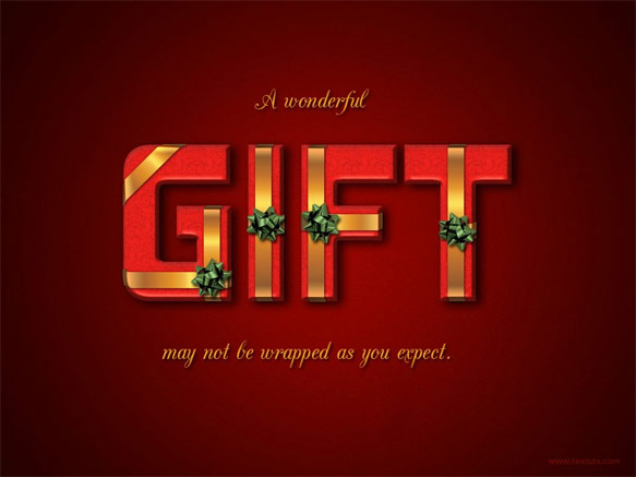 Wrapped Gift Box Text Effect