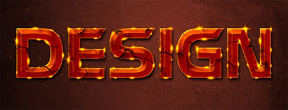 Glowing Rusty Text Effect