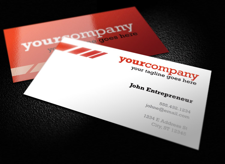 Clean and Colorful Business Card Template 1   Design Panoply