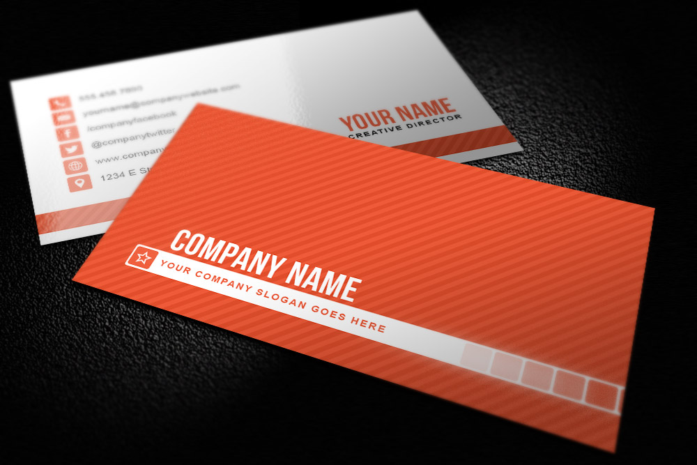 Simple Striped Business Card Template