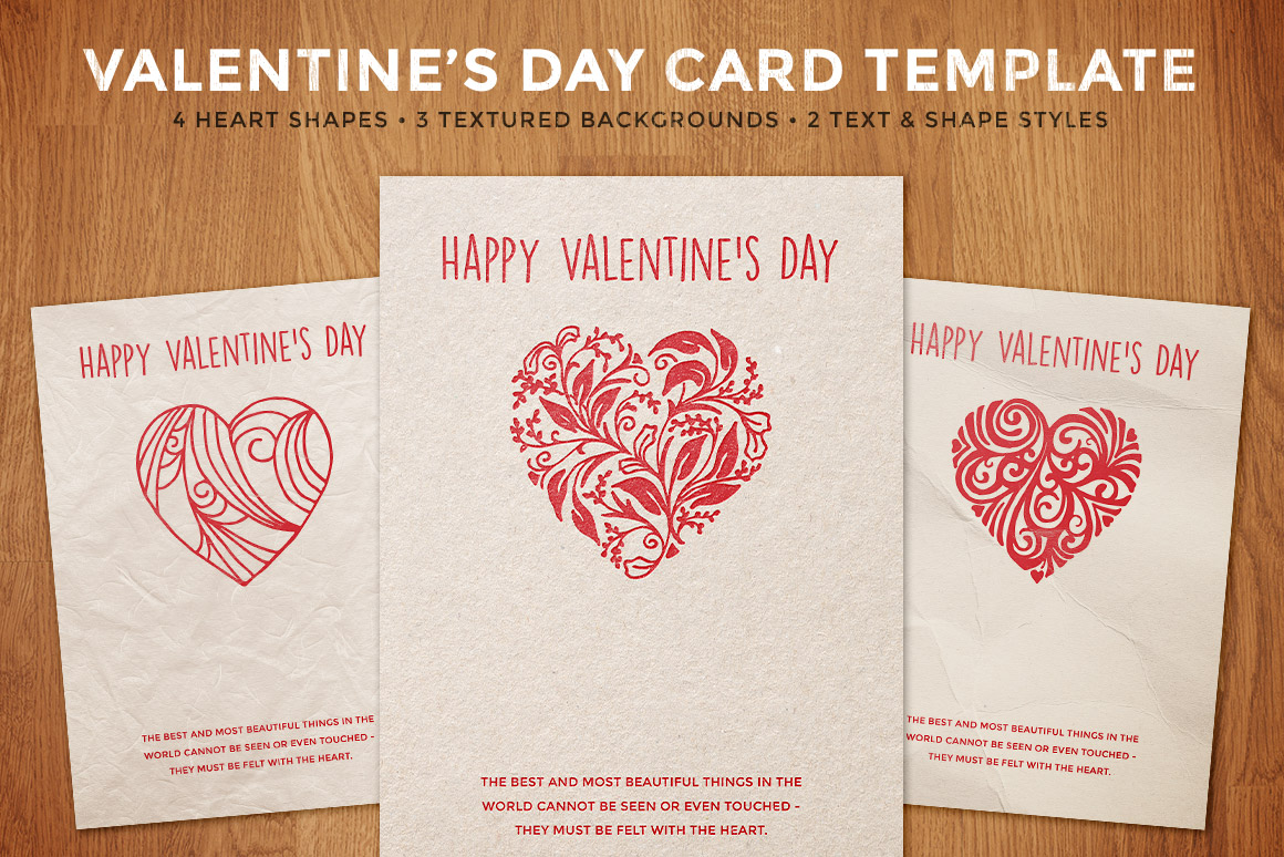 simple valentine s day card template design panoply