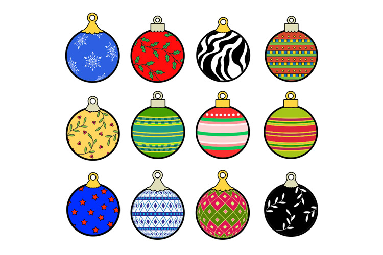 Christmas Ornament Vector.Christmas Ornaments Vector Pack 1 Design Panoply