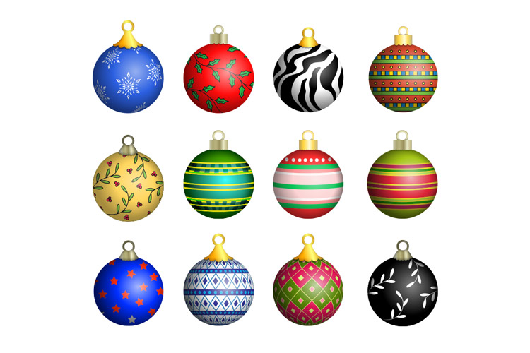 Christmas Ornaments Vector Pack 1 | Design Panoply