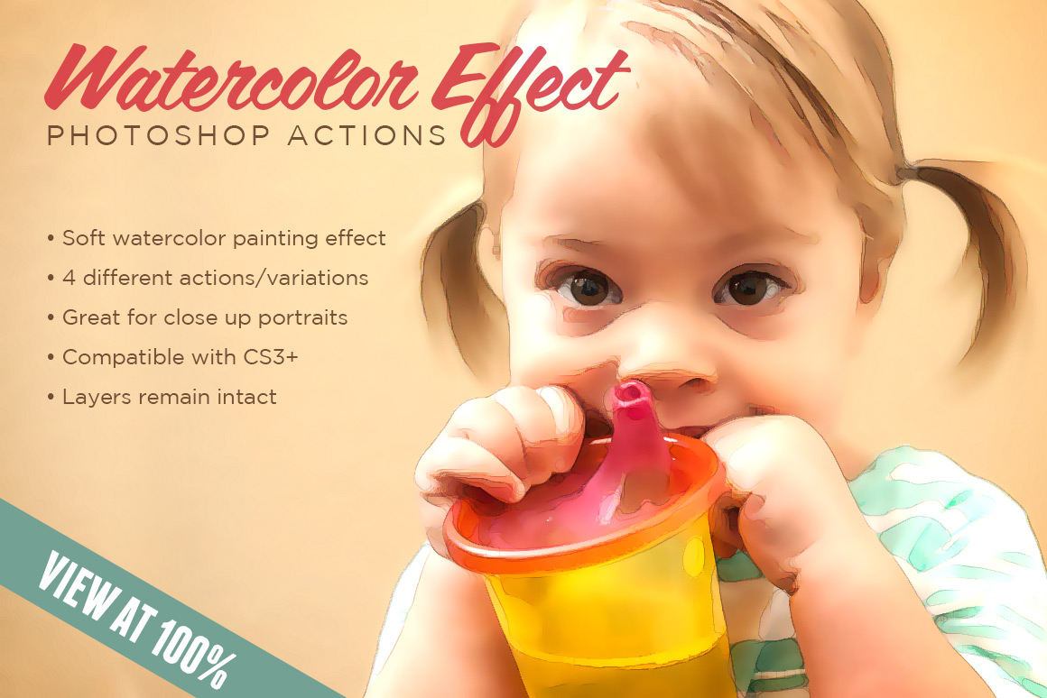 Watercolor Effect Action 1 | Design Panoply