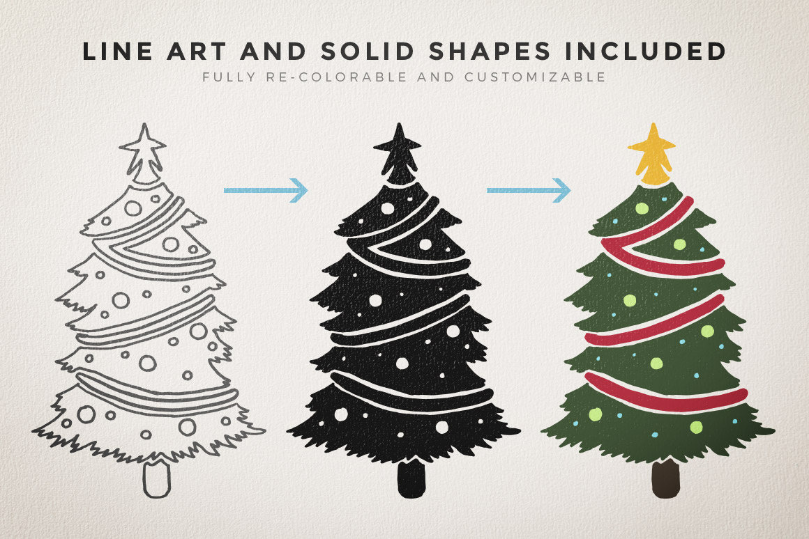 Christmas Vectors.Winter And Christmas Vector Pack Volume 1 Design Panoply